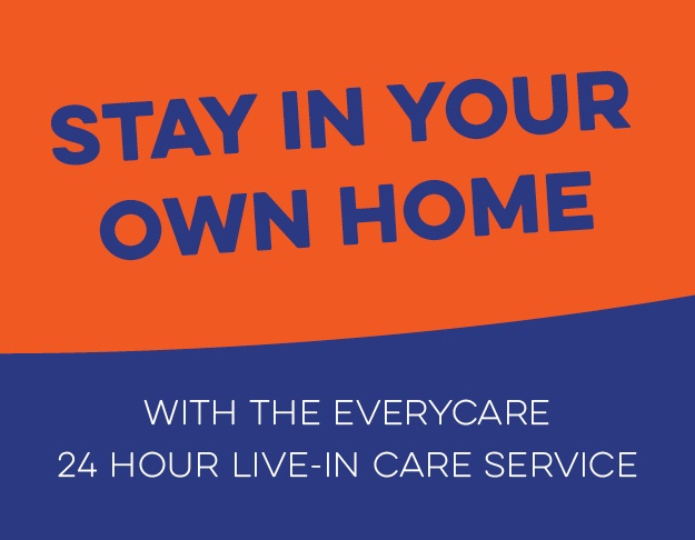 Stay in your own home with the Everycare 24 hour live-in care service