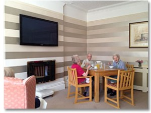 Interior of The Lodges Care Home Cardiff